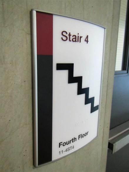 Allard Hall stairway signage