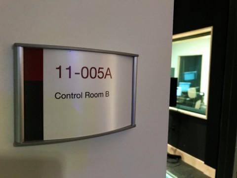 Allard Hall room identification signage