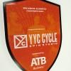 Custom acrylic and Corian plaque